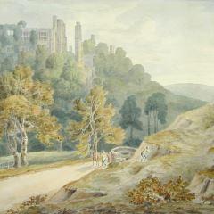 Vista de un castillo ruinoso