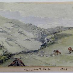 Paisaje montañoso en Earle, Northumberland (Inglaterra)