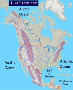 Mountain ranges of North America. Ilike2learn