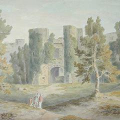 Ruinas del castillo de Berry, Devon (Inglaterra)