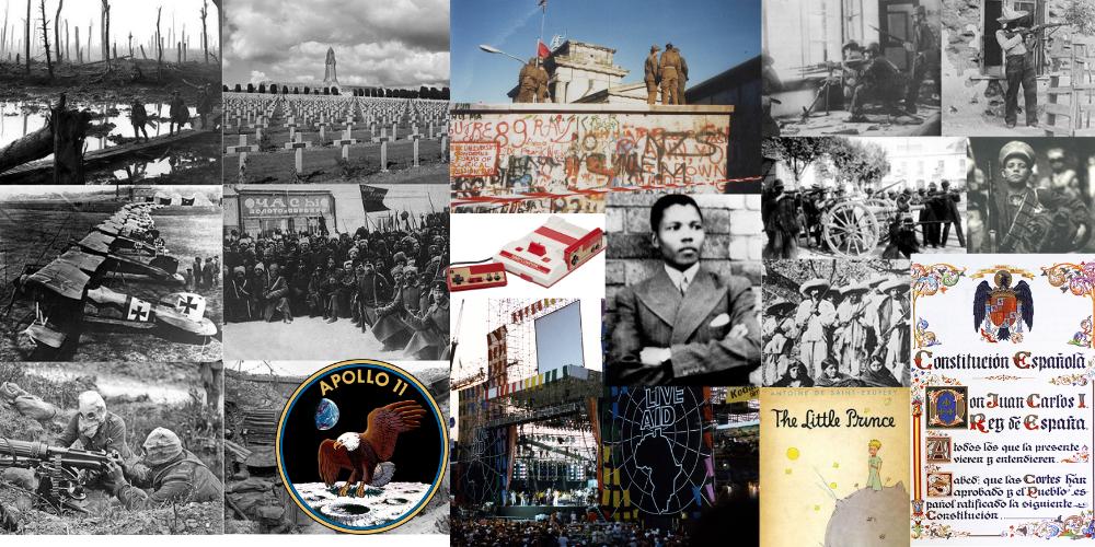 Eventos importantes del siglo XX (difícil)