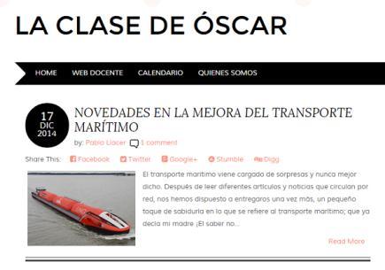 La clase de Óscar