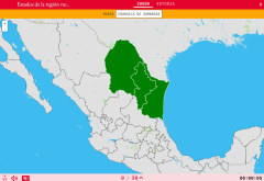 States of the region northeastern of Mexico