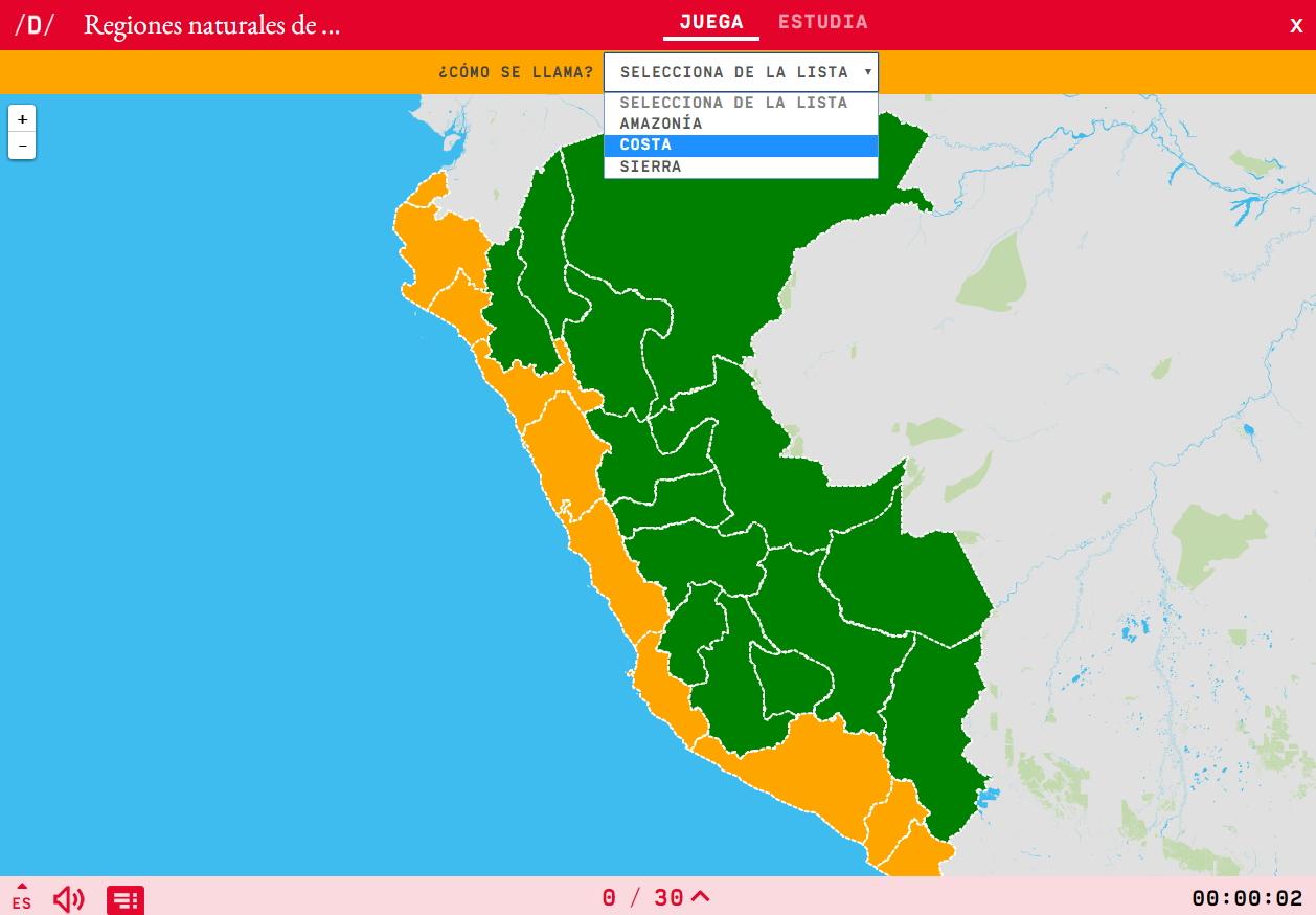 Regions naturals del Perú