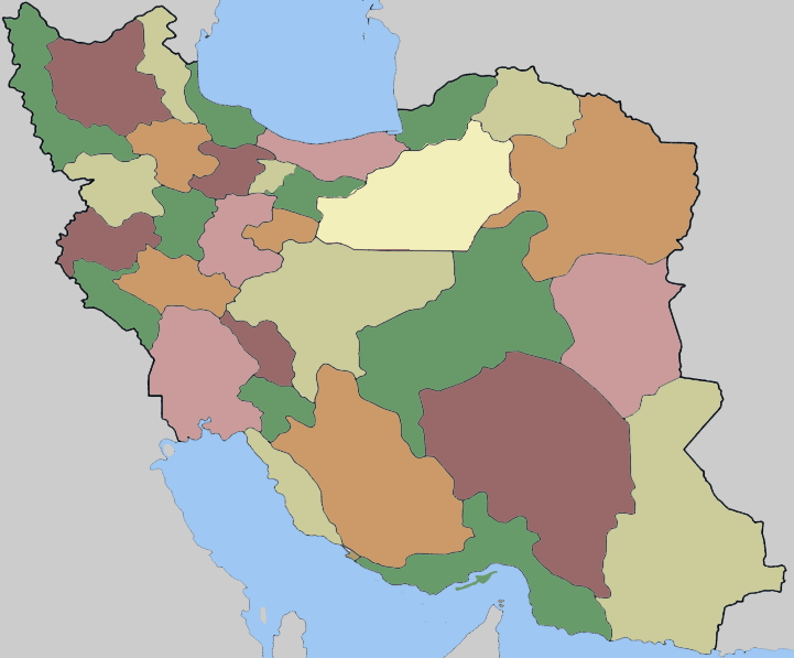Provinces of Iran. Lizard Point