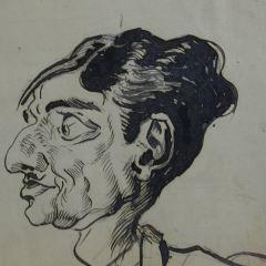 Caricatura de Julián Romea y Parra