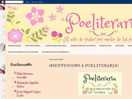 POELITERARIA. Proyecto de Inteligencias Múltiples. Inter Cantores et Lenae.