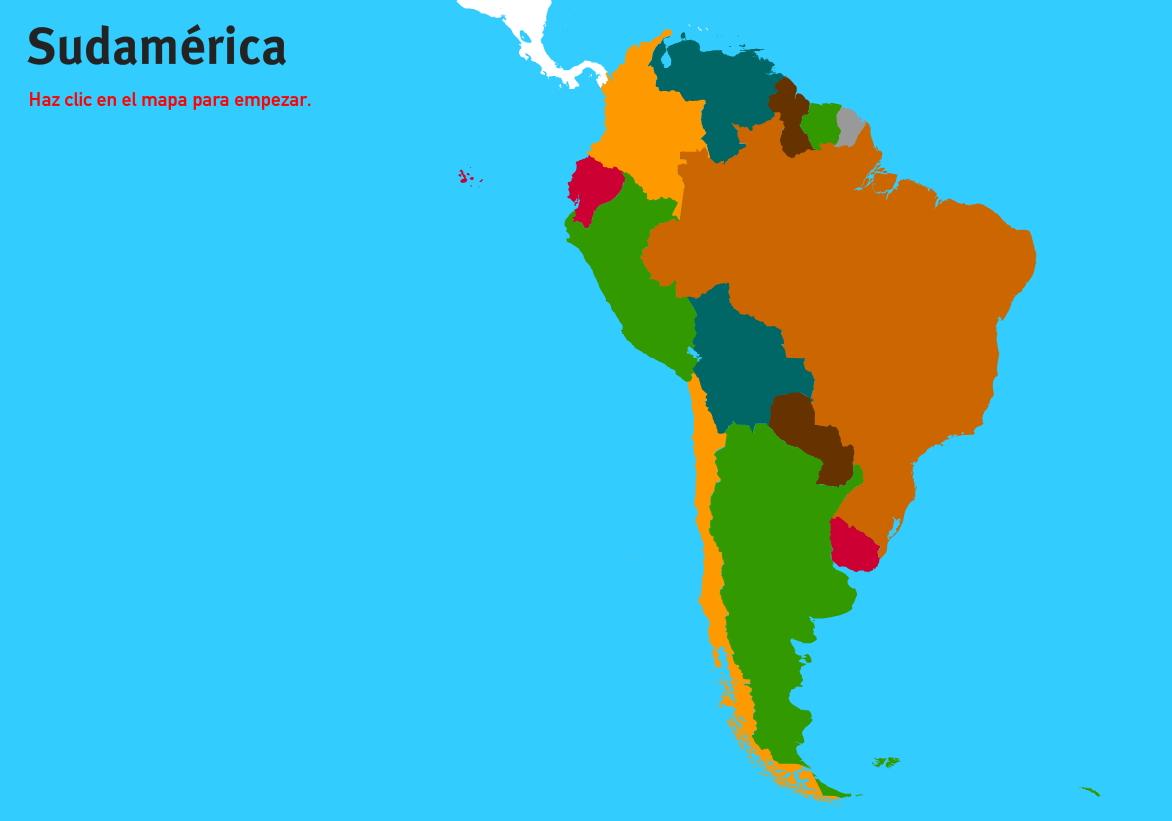 Países de Sudamérica. Juegos de Geografía
