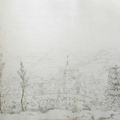 Vista de un pueblo inglés