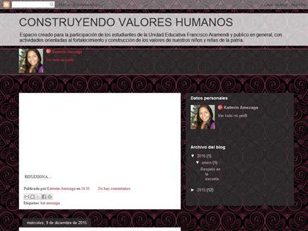 CONSTRUYENDO VALORES HUMANOS