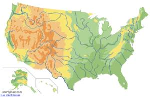 Geophysical regions of United States. Lizard Point