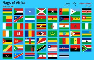 Flags of Africa. World Geography Games