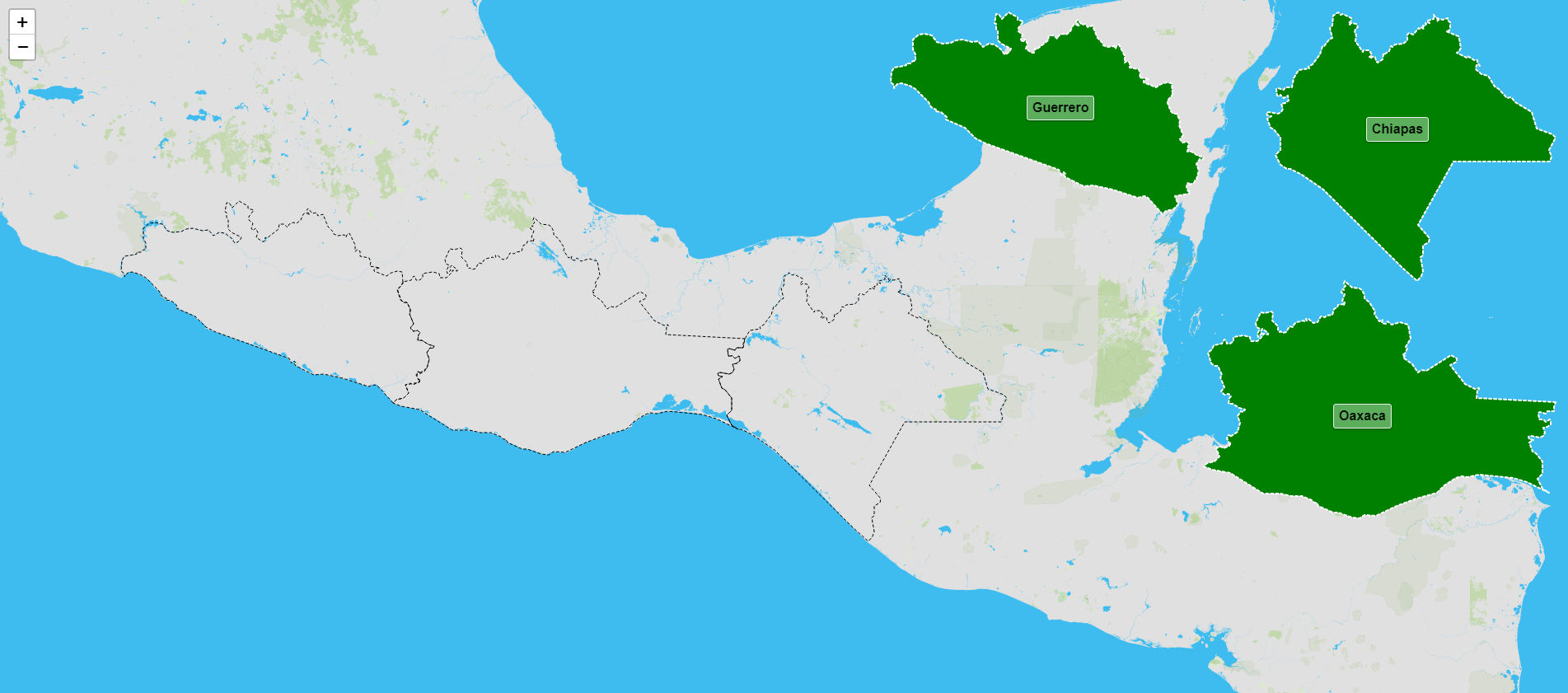 Estados de la región suroeste de México
