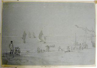 Vista de la playa de Hastings (Inglaterra)