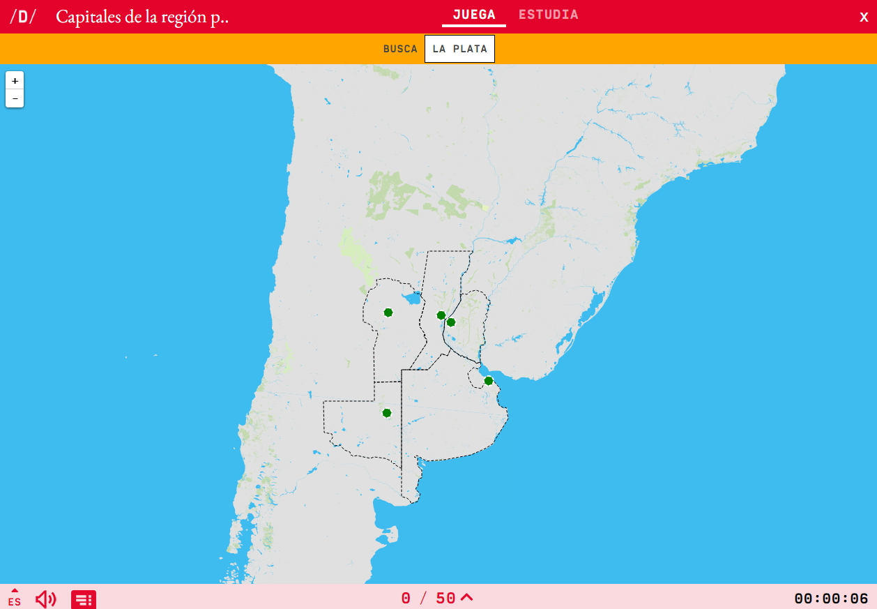 Capitais da rexión Pampa de Argentina