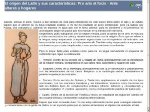 El origen del Latín y sus características: Pro aris et focis - Ante altares y hogares