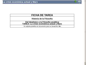 La crisis económica actual y Marx