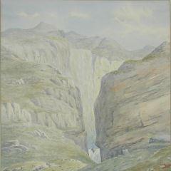 Cascada en las cercanías de Meraak. Geirangerfjord (Noruega)