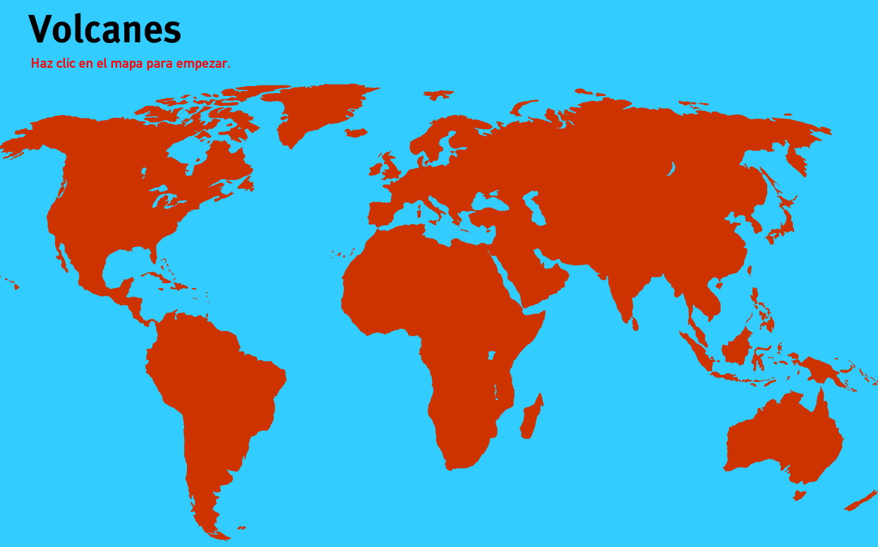 Volcanes del Mundo. Juegos de Geografía