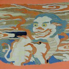 Fragmento de tejido de seda chino