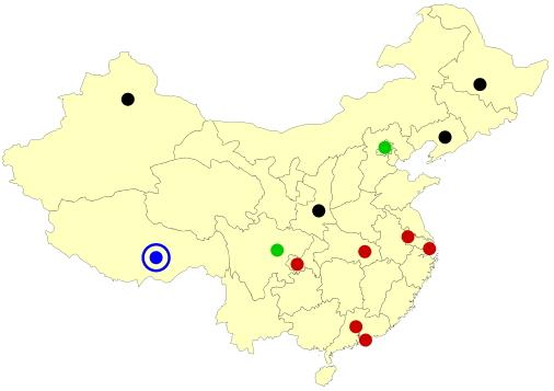 China cities map  (JetPunk)