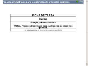 Procesos industriales para la obtención de productos químicos