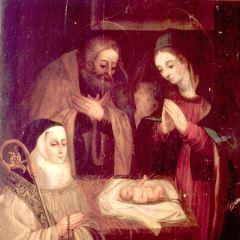 Abadesa adorando al Niño Jesús