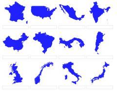 Formas de países del mundo (JetPunk)