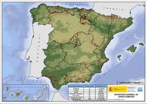 Mapa de Zonas Húmedas de España