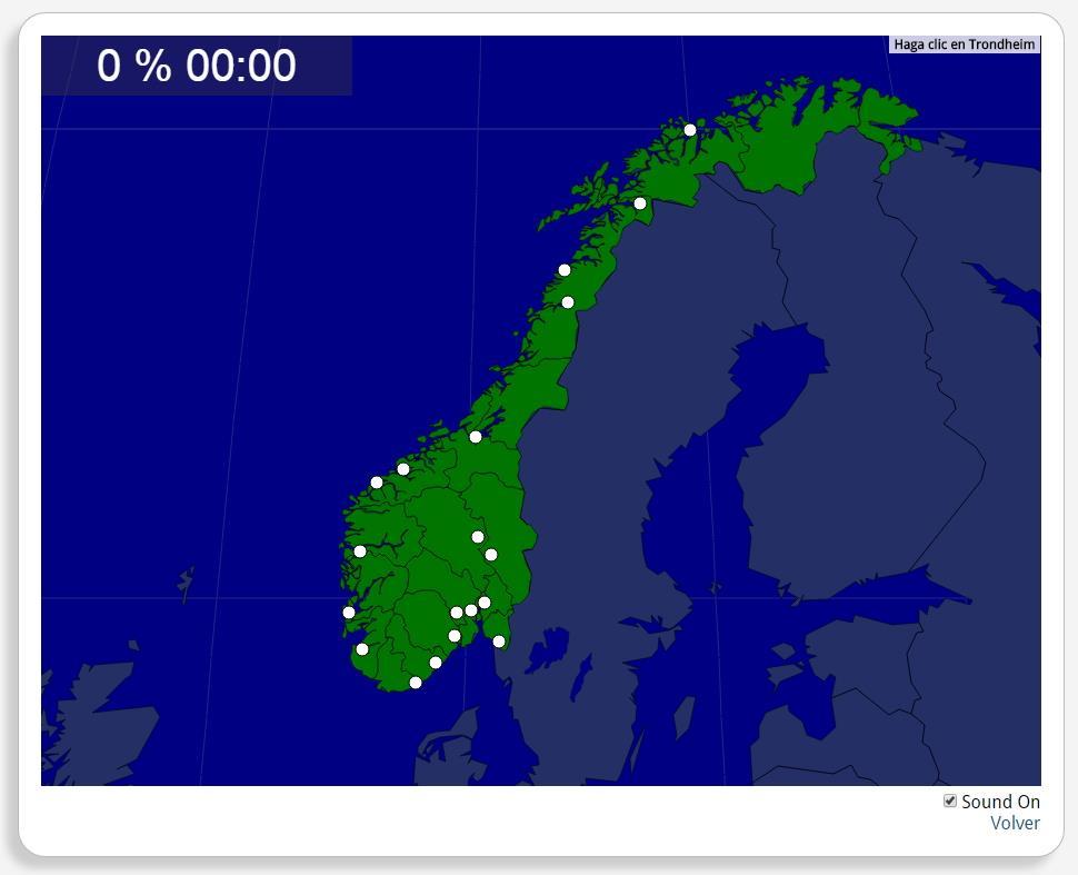 Noruega: Ciudades. Seterra