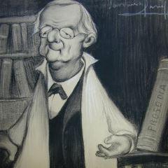 Caricatura del filólogo Eduardo Benot