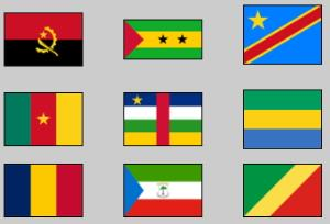 Flags of Central Africa. Lizard Point