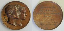 Medalla conmemorativa de la boda del rey Alfonso XII con María de las Mercedes de Orleans
