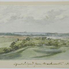Vista de Coquet island desde Warkworth (Inglaterra)