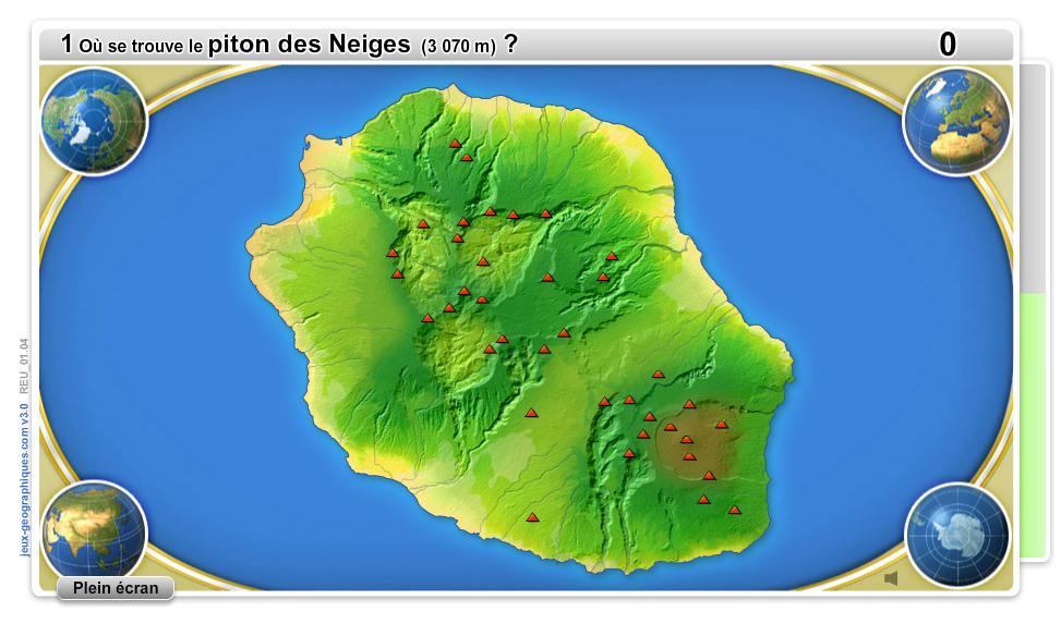GéoRéunion. Jeux géographiques