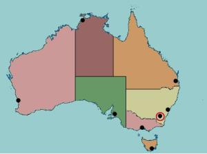 State capitals of Australia. Lizard Point
