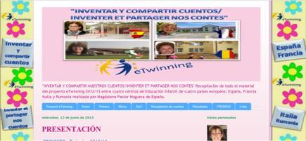 """""""INVENTAR Y COMPARTIR NUESTROS CUENTOS/INVENTER ET PARTAGER NOS CONTES"""""""