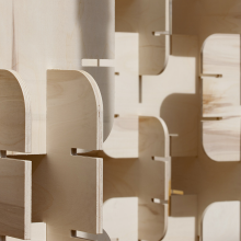 Garnica plywood dresses the 4th edition of Concéntrico