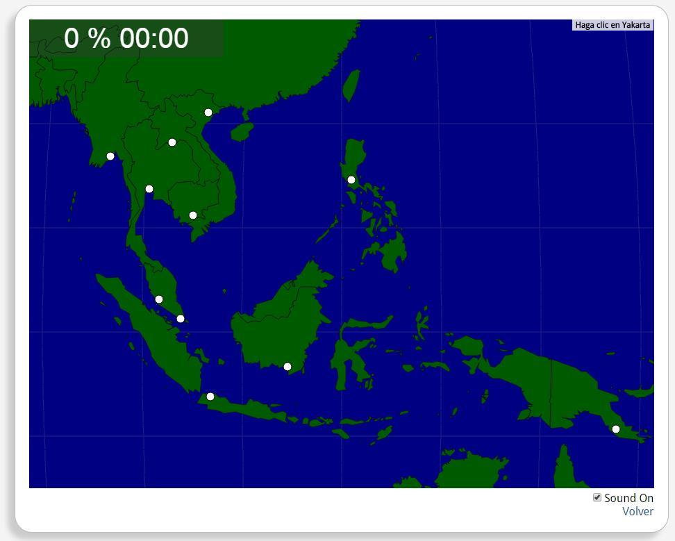 Sudeste da Ásia: Cidades. Seterra
