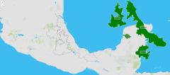 Estados da região este de México