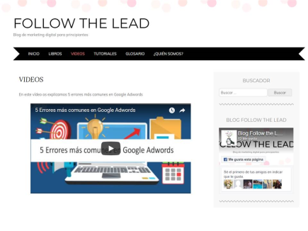 Blog Follow the lead, marketing digital para principiantes