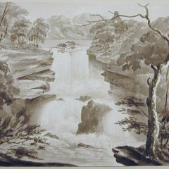 Cascada del río Clyde (Escocia)