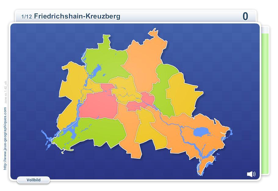 Bezirke Berlins. Geographie Spiele