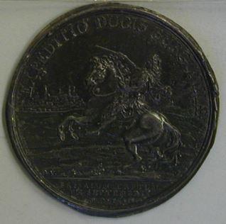 Prueba de reverso de la medalla conmemorativa de la victoria de Brissac