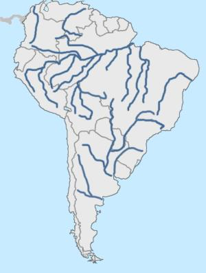 Rivers and lakes of South America (hard). Lizard Point