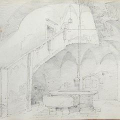 Interior de una posada, Foligno (Italia)