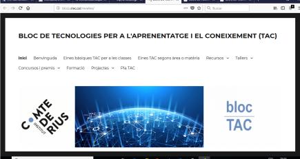 Blog de Tecnologías del Aprendizaje y del Conocimiento del Instituto Comte de Rius de Tarragona