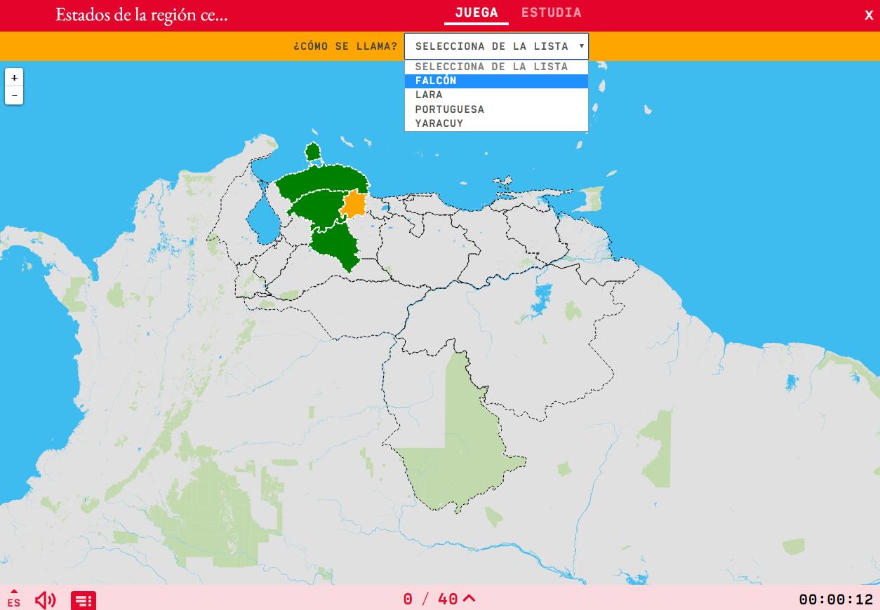 Estados de la región centroccidental de Venezuela