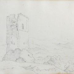 Torre cerca del lago Trasimeno, Perugia (Italia)