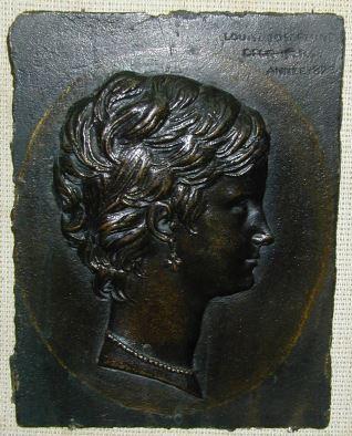 Placa con el retrato de Louise Josephine Desnoyers